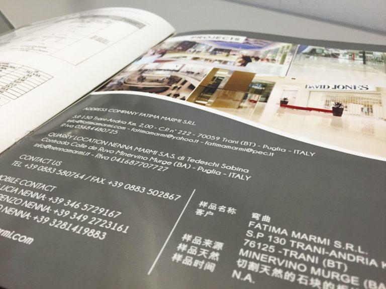 Catalogo azienda con stampa personalizzata